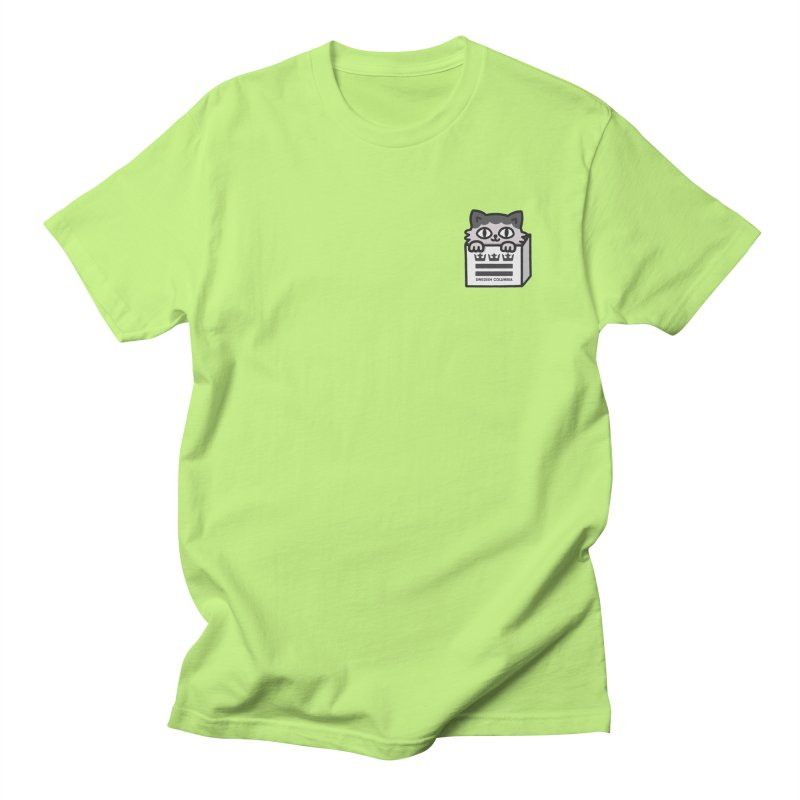 Swedish Columbia cat in a box small Men's Regular T-Shirt by Swedish Columbia's Artist Shop