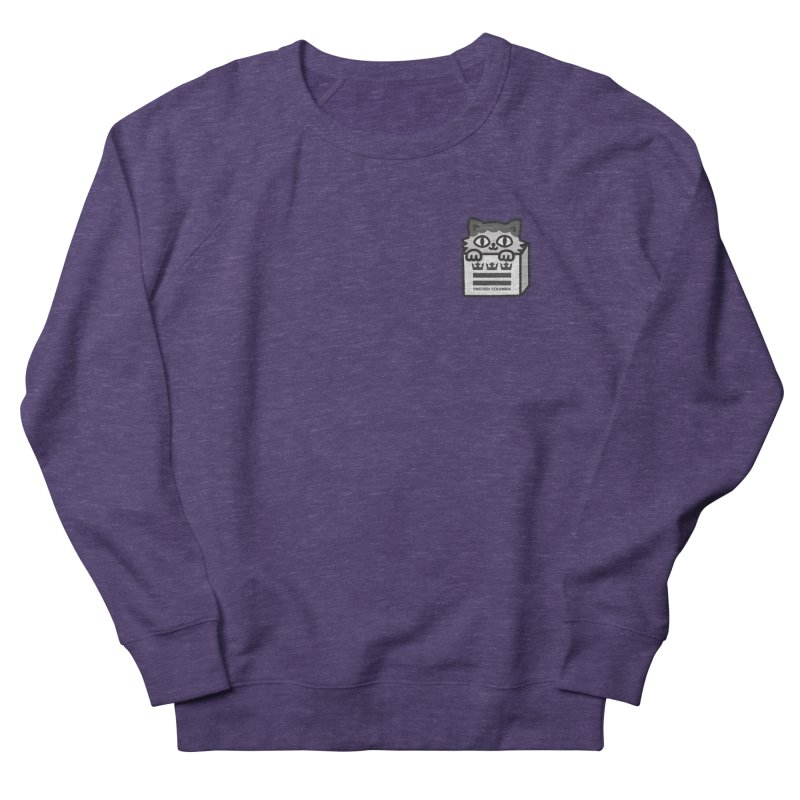 Swedish Columbia cat in a box small Women's French Terry Sweatshirt by Swedish Columbia's Artist Shop