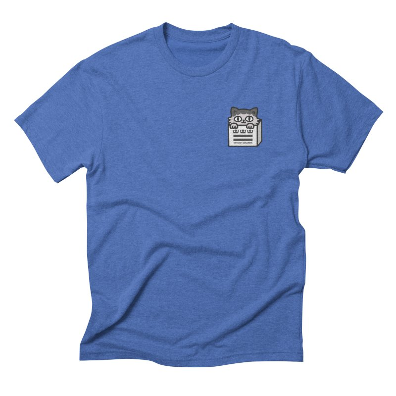 Swedish Columbia cat in a box small Men's T-Shirt by Swedish Columbia's Artist Shop