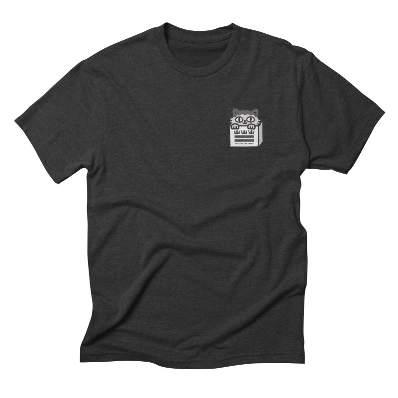 Swedish Columbia cat in a box small Men's Triblend T-Shirt by Swedish Columbia's Artist Shop