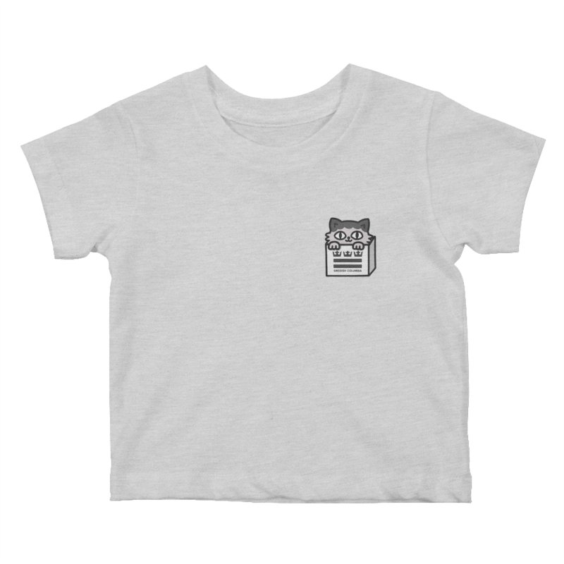 Swedish Columbia cat in a box small Kids Baby T-Shirt by Swedish Columbia's Artist Shop