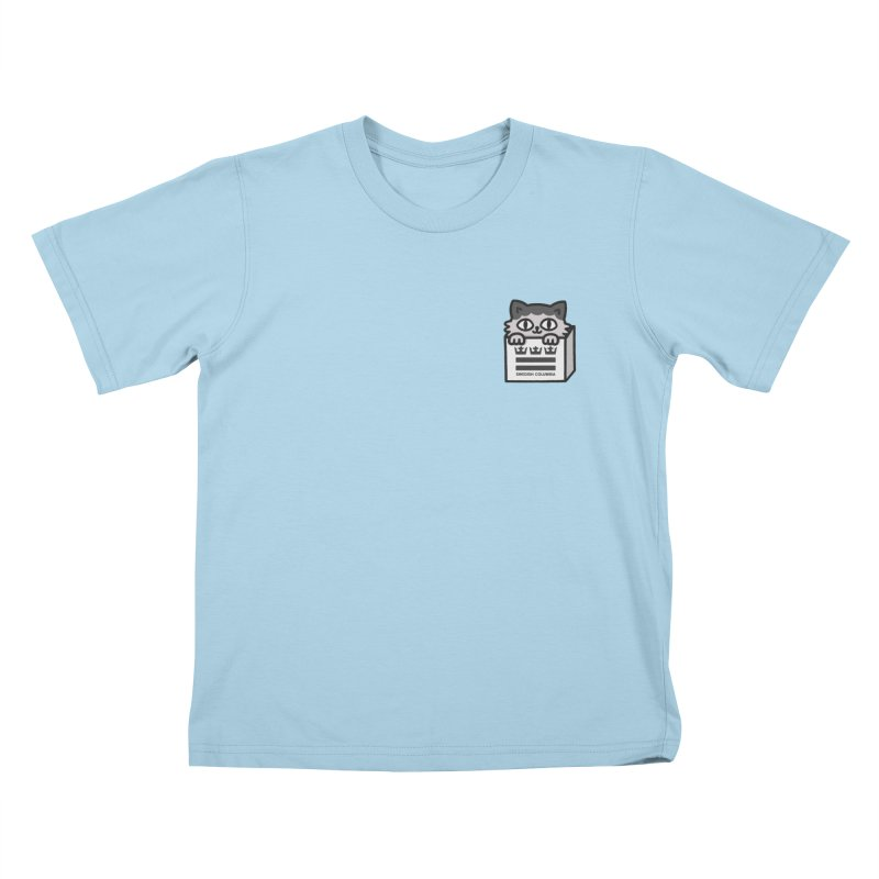 Swedish Columbia cat in a box small Kids T-Shirt by Swedish Columbia's Artist Shop