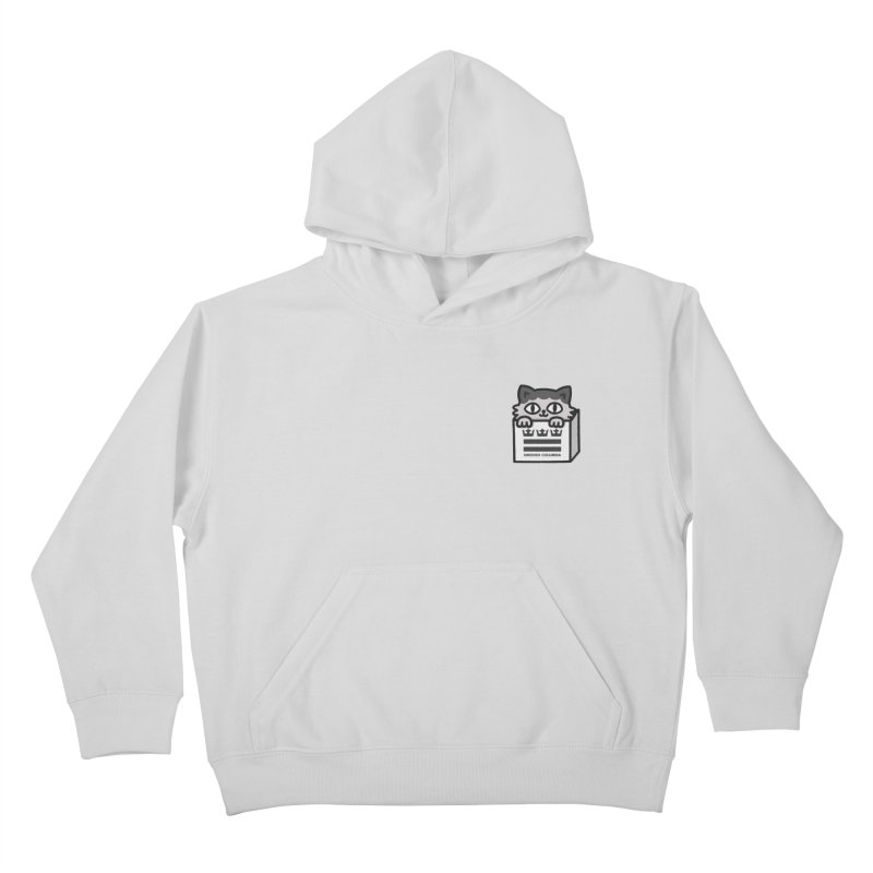 Swedish Columbia cat in a box small Kids Pullover Hoody by Swedish Columbia's Artist Shop
