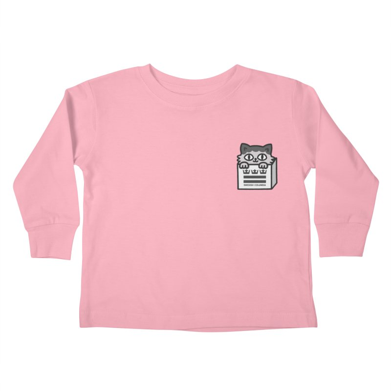 Swedish Columbia cat in a box small Kids Toddler Longsleeve T-Shirt by Swedish Columbia's Artist Shop
