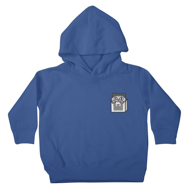 Swedish Columbia cat in a box small Kids Toddler Pullover Hoody by Swedish Columbia's Artist Shop