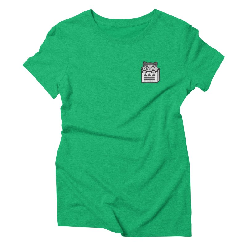 Swedish Columbia cat in a box small Women's Triblend T-Shirt by Swedish Columbia's Artist Shop