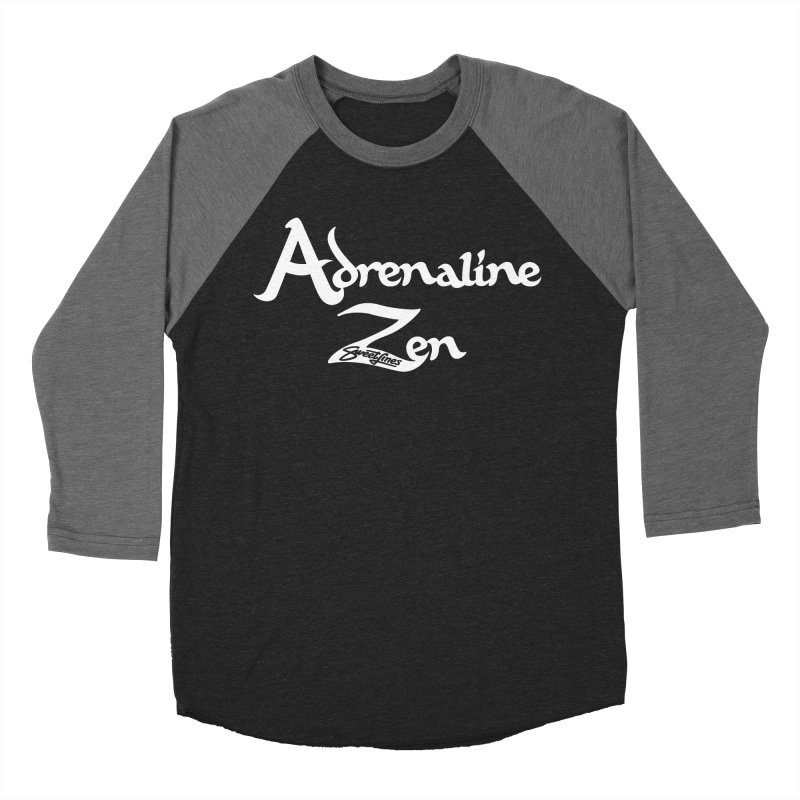 ADRENALINE ZEN BLACK n' WHITE Women's Baseball Triblend Longsleeve T-Shirt by Sweetlines