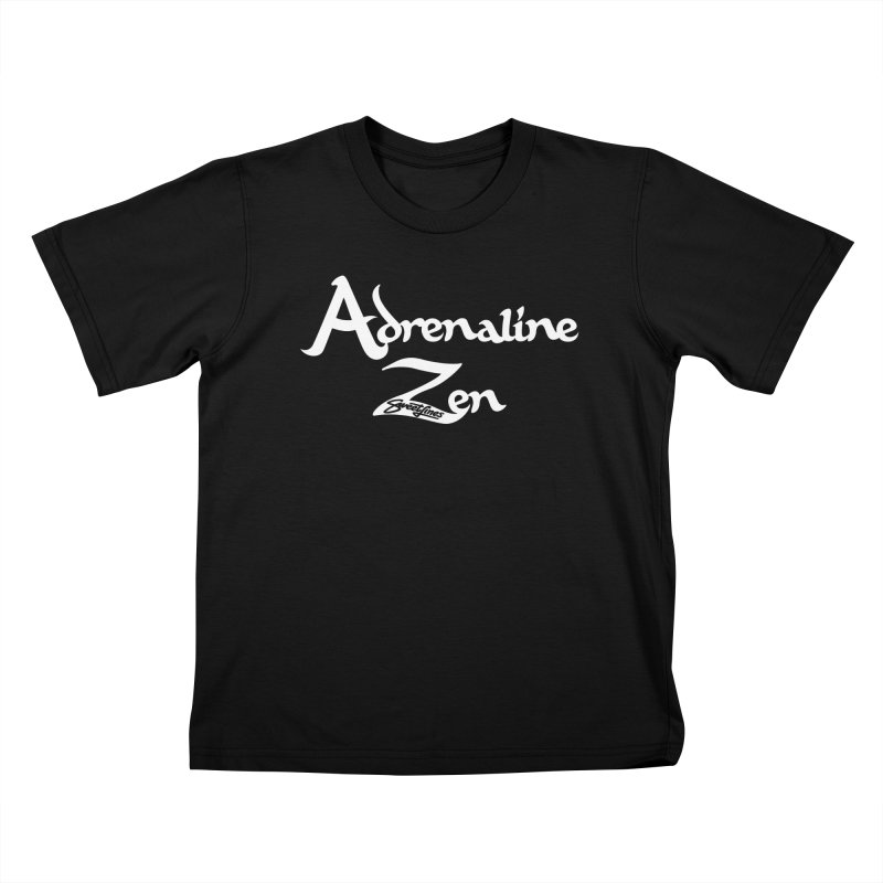 ADRENALINE ZEN BLACK n' WHITE Kids T-Shirt by Sweetlines