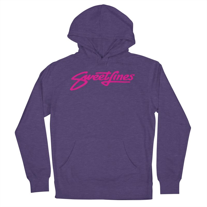 SWEETLINES PINK Men's French Terry Pullover Hoody by Sweetlines