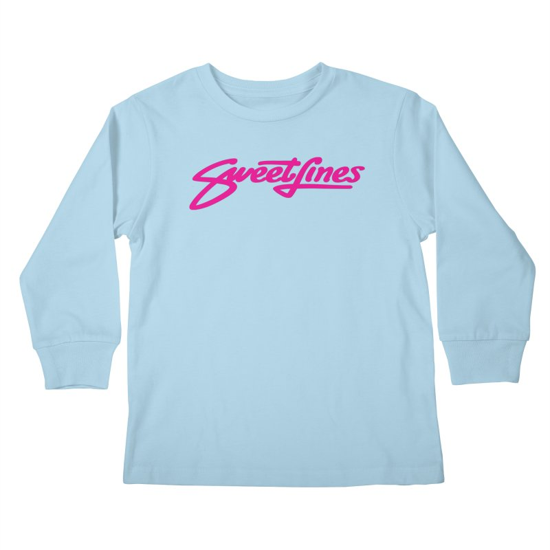 SWEETLINES PINK Kids Longsleeve T-Shirt by Sweetlines