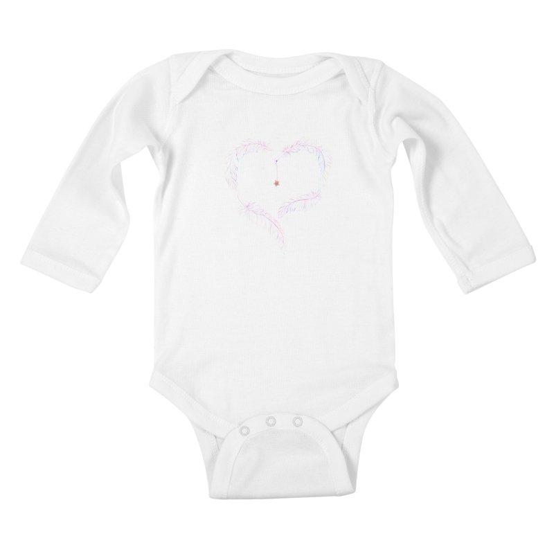 Flutter Heart Kids Baby Longsleeve Bodysuit by SwishySwish