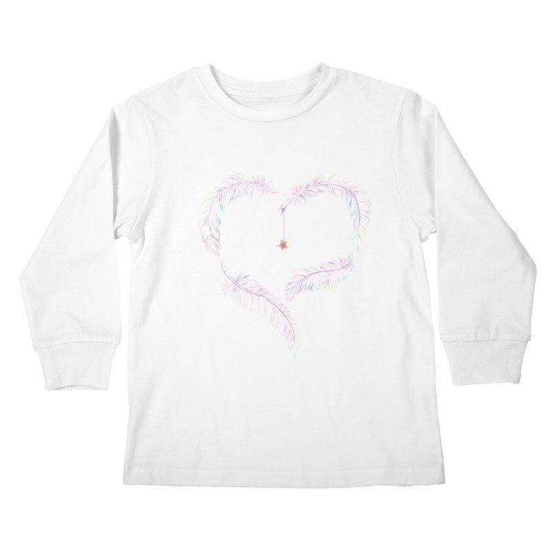 Flutter Heart Kids Longsleeve T-Shirt by SwishySwish