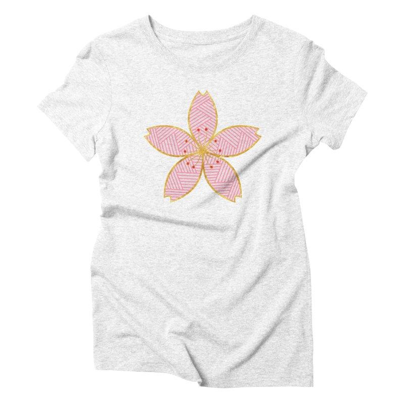 Sakura Women's Triblend T-shirt by SwishySwish