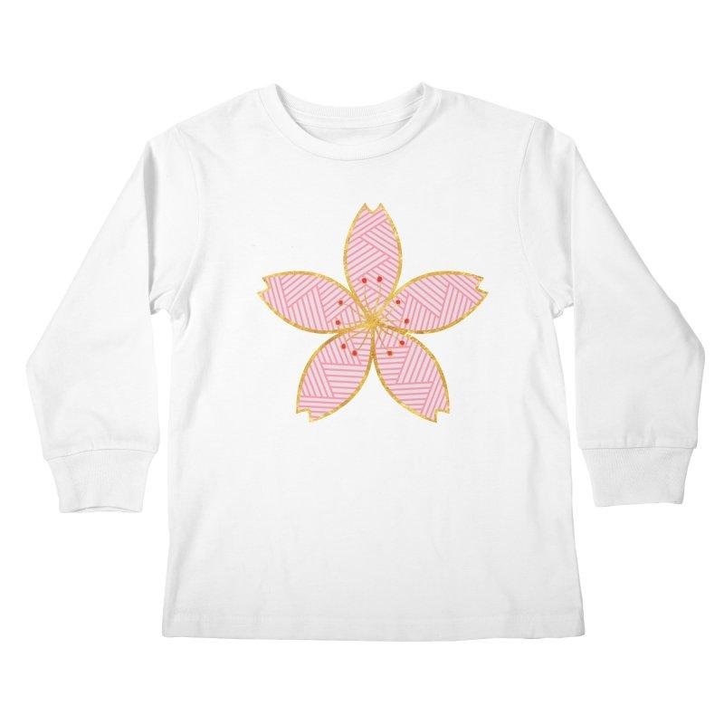 Sakura Kids Longsleeve T-Shirt by SwishySwish