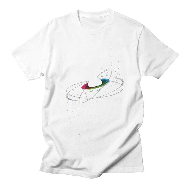 Prismatic Planet Men's T-Shirt by swissette's Artist Shop