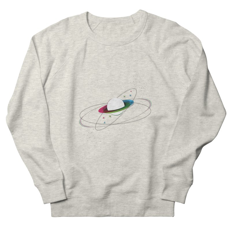 Prismatic Planet Men's Sweatshirt by swissette's Artist Shop