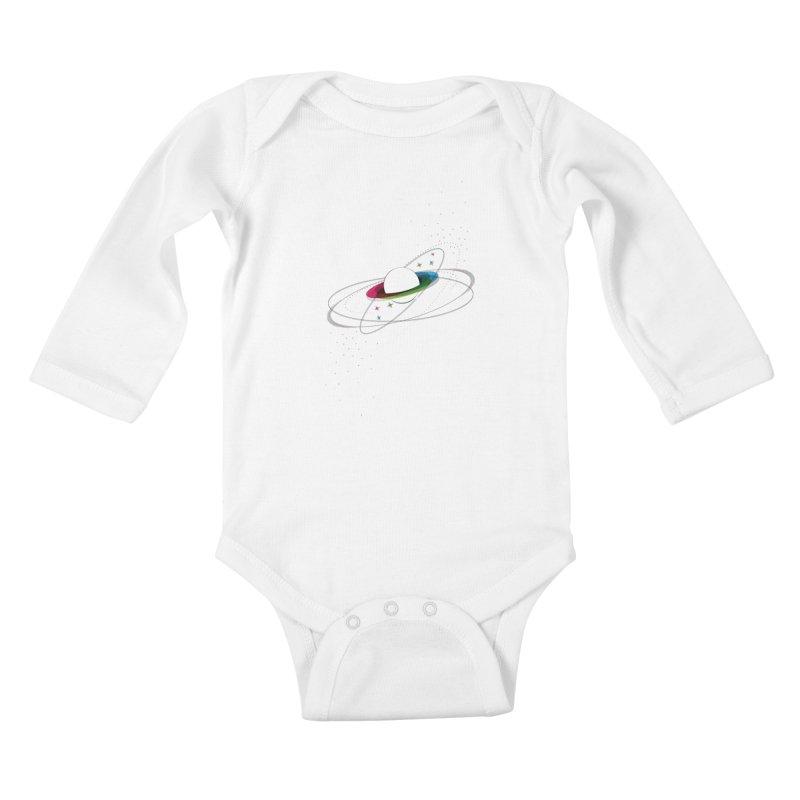 Prismatic Planet Kids Baby Longsleeve Bodysuit by swissette's Artist Shop