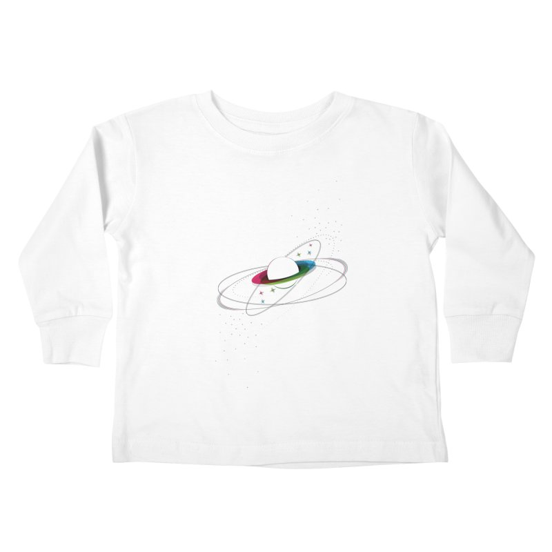 Prismatic Planet Kids Toddler Longsleeve T-Shirt by swissette's Artist Shop