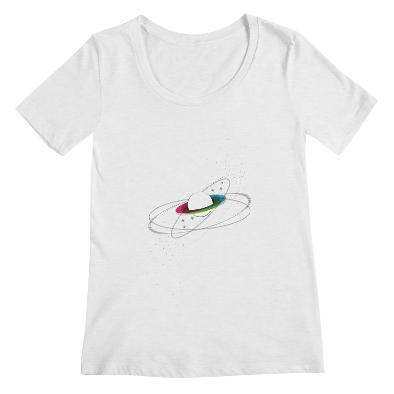 Prismatic Planet Women's Scoopneck by swissette's Artist Shop