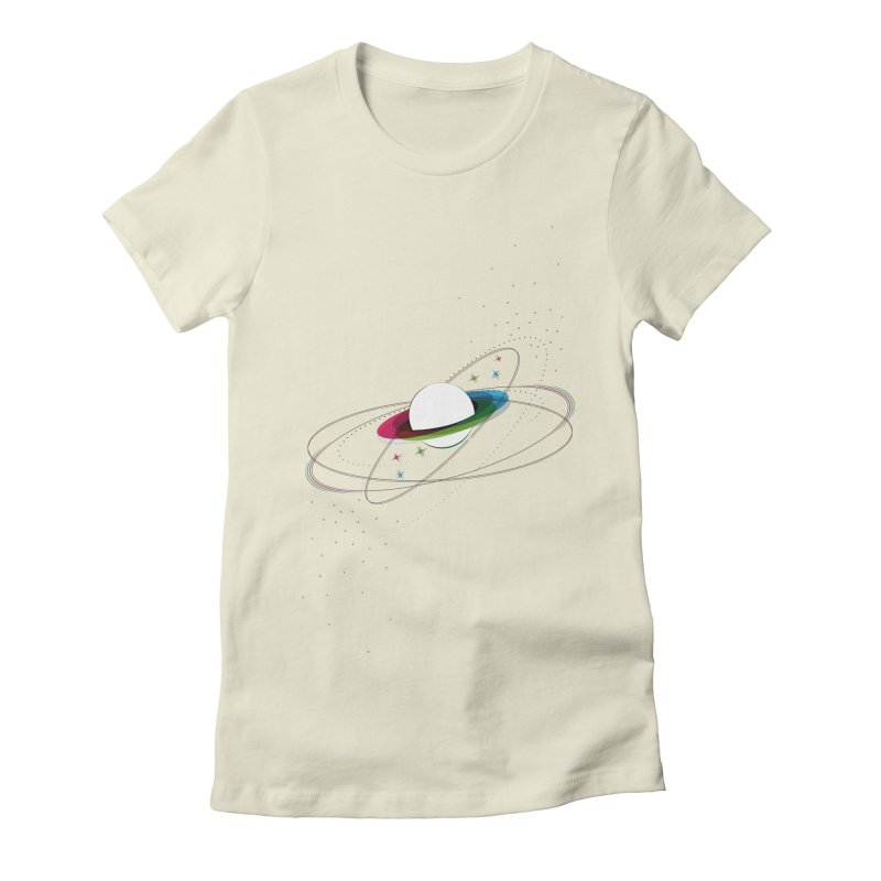 Prismatic Planet Women's Fitted T-Shirt by swissette's Artist Shop