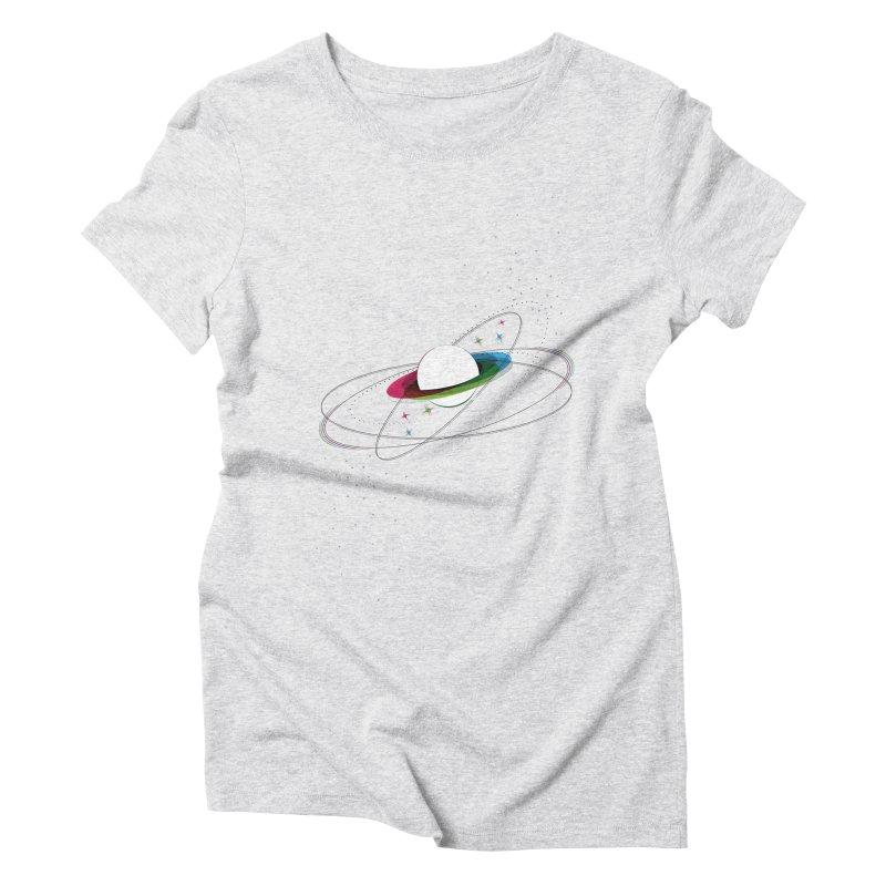 Prismatic Planet Women's Triblend T-Shirt by swissette's Artist Shop