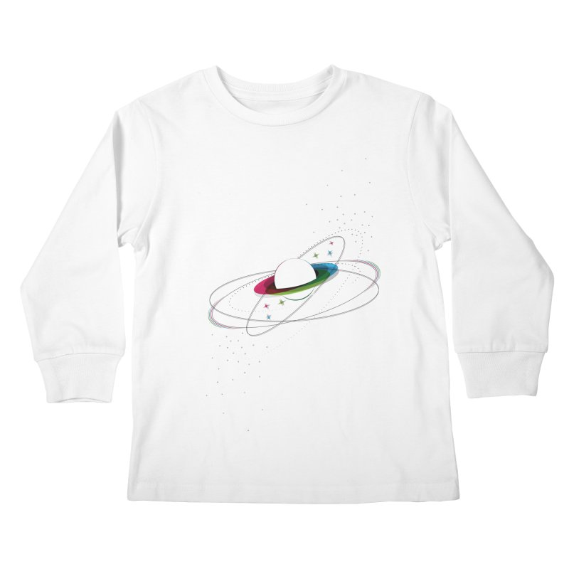 Prismatic Planet Kids Longsleeve T-Shirt by swissette's Artist Shop