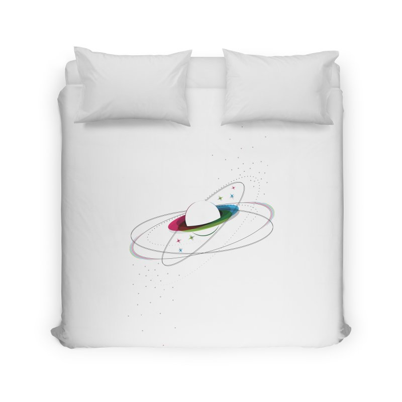 Prismatic Planet Home Duvet by swissette's Artist Shop