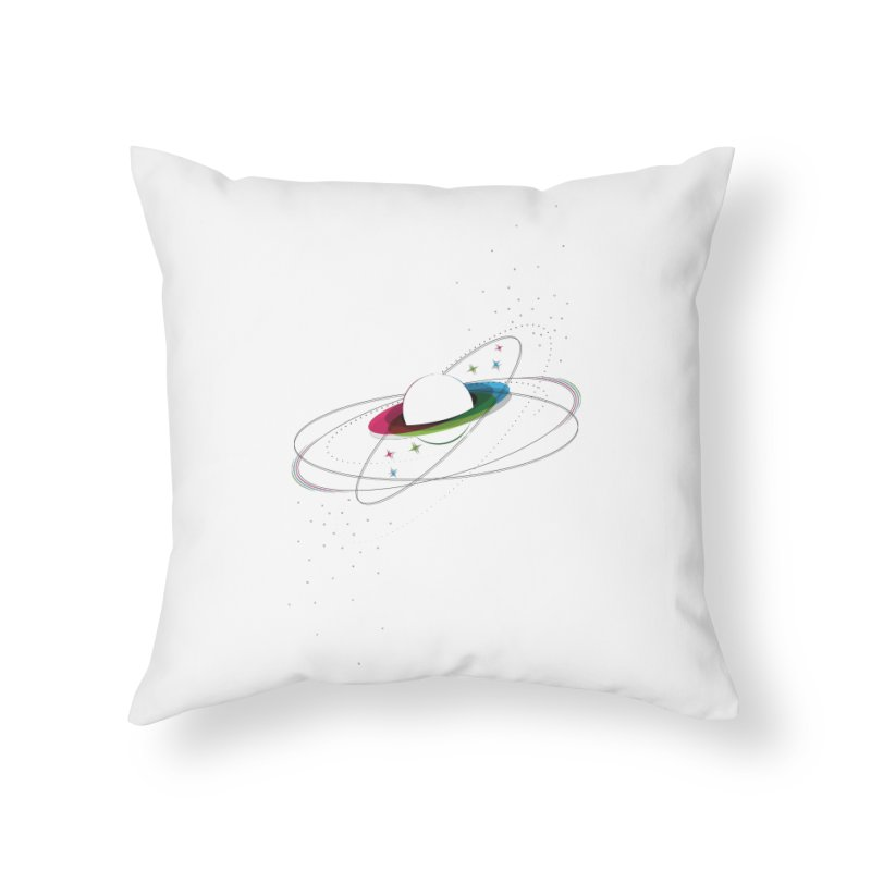 Prismatic Planet Home Throw Pillow by swissette's Artist Shop