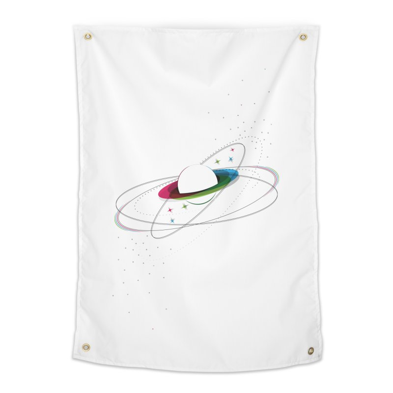 Prismatic Planet Home Tapestry by swissette's Artist Shop