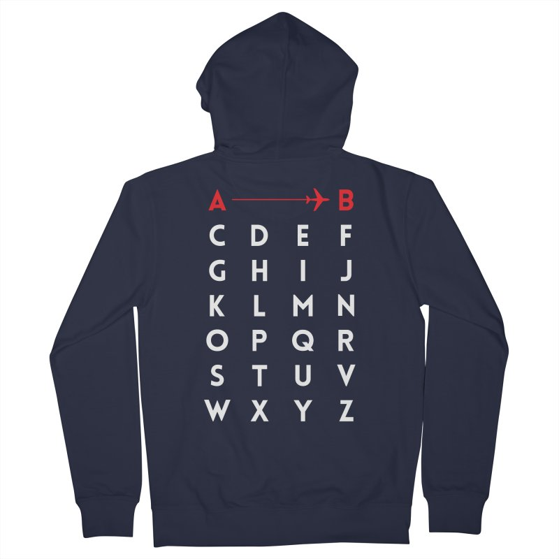 A to B Women's Zip-Up Hoody by swissette's Artist Shop