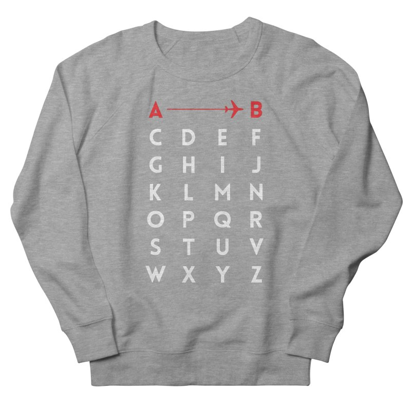A to B Men's Sweatshirt by swissette's Artist Shop