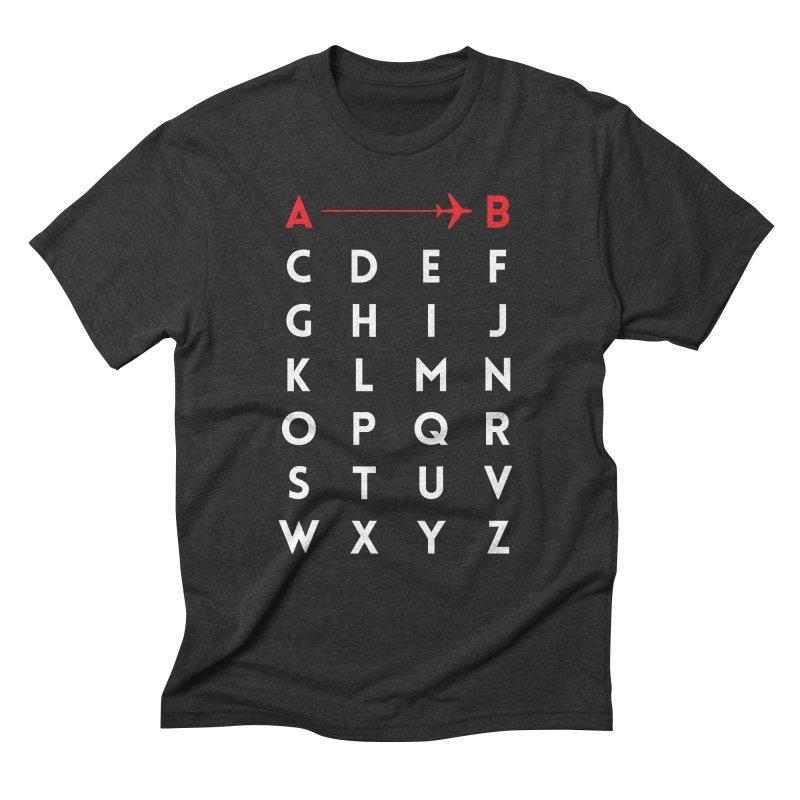A to B Men's Triblend T-shirt by swissette's Artist Shop