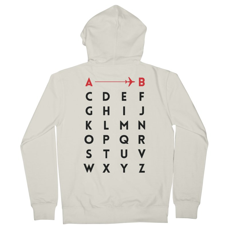A to B - Original Women's Zip-Up Hoody by swissette's Artist Shop