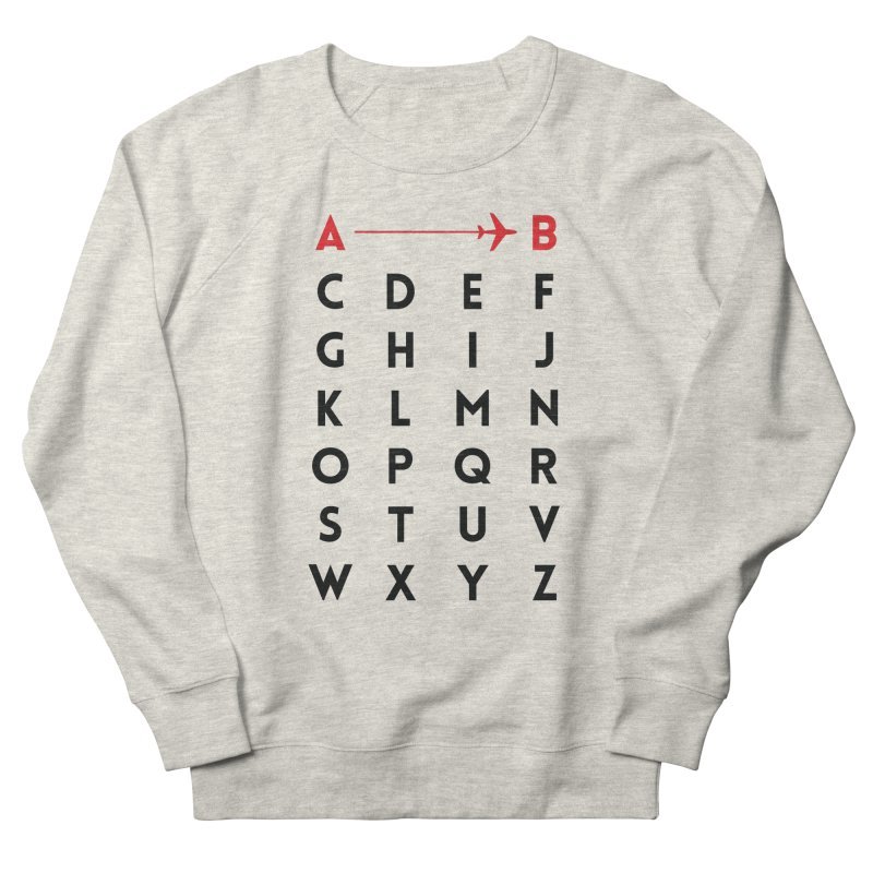 A to B - Original Men's Sweatshirt by swissette's Artist Shop