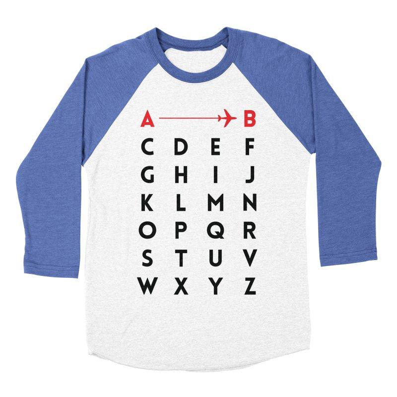 A to B - Original Men's Baseball Triblend T-Shirt by swissette's Artist Shop