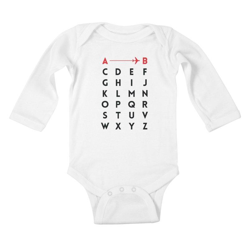 A to B - Original Kids Baby Longsleeve Bodysuit by swissette's Artist Shop
