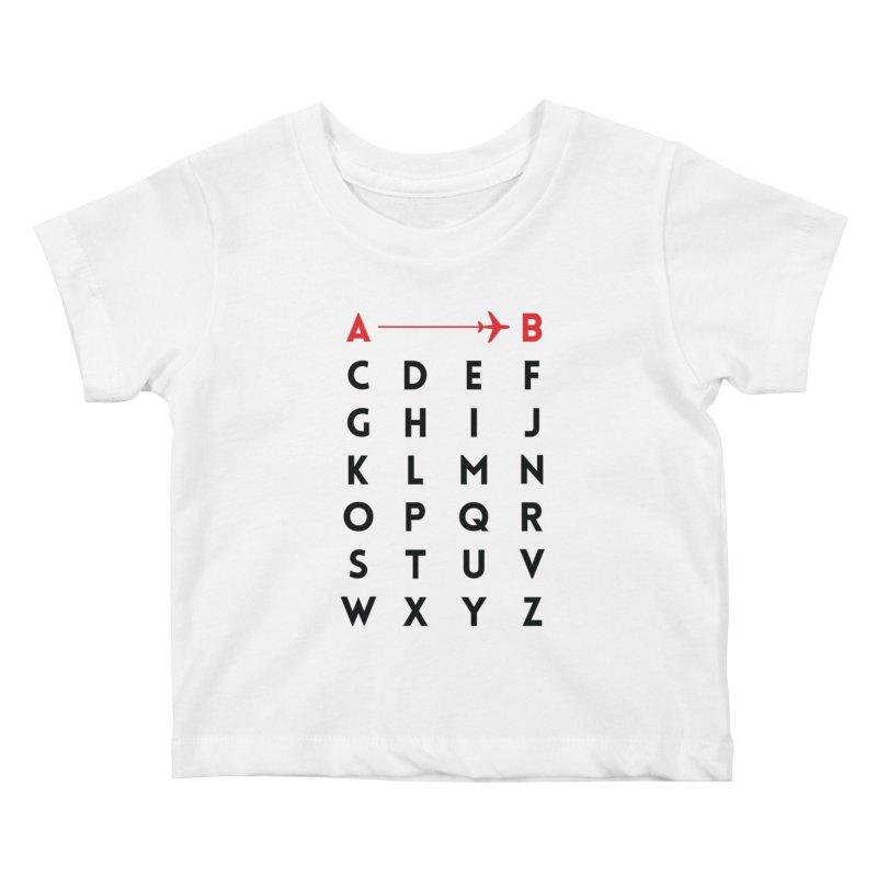 A to B - Original Kids Baby T-Shirt by swissette's Artist Shop