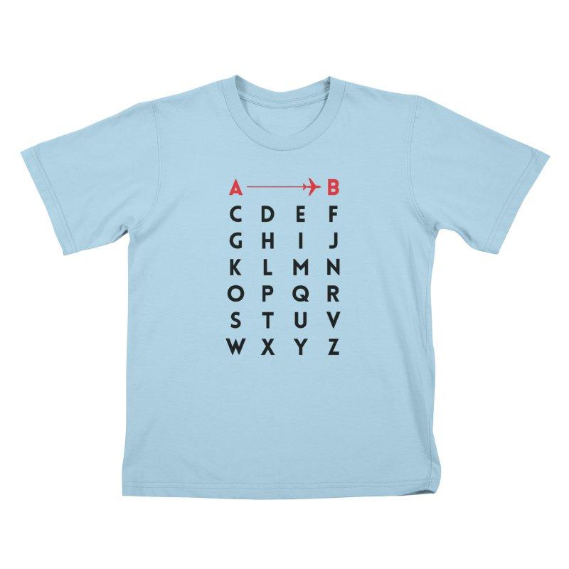 A to B - Original Kids T-Shirt by swissette's Artist Shop