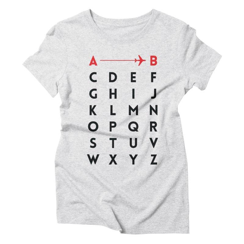 A to B - Original Women's Triblend T-Shirt by swissette's Artist Shop