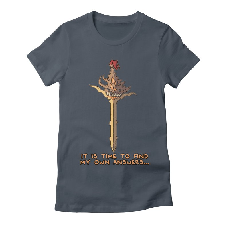 Demon Sword of Absolute Fury Quote Edition Women's T-Shirt by Swords Comics : The Store
