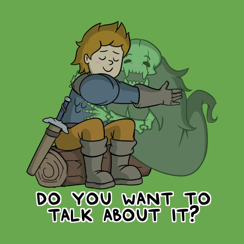 Do You Want To Talk About It? Quote Edition Women's Scoop Neck by Swords Comics : The Store