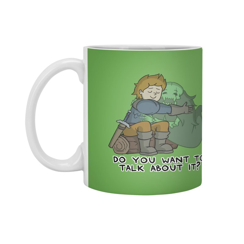 Do You Want To Talk About It? Quote Edition Accessories Mug by Swords Comics : The Store