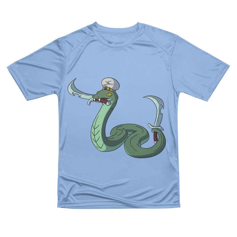 Would A Snake Hold A Sword Like This? Women's T-Shirt by Swords Comics : The Store