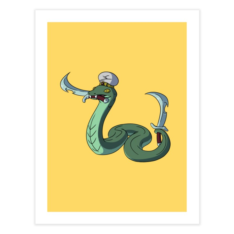 Would A Snake Hold A Sword Like This? Home Fine Art Print by Swords Comics : The Store