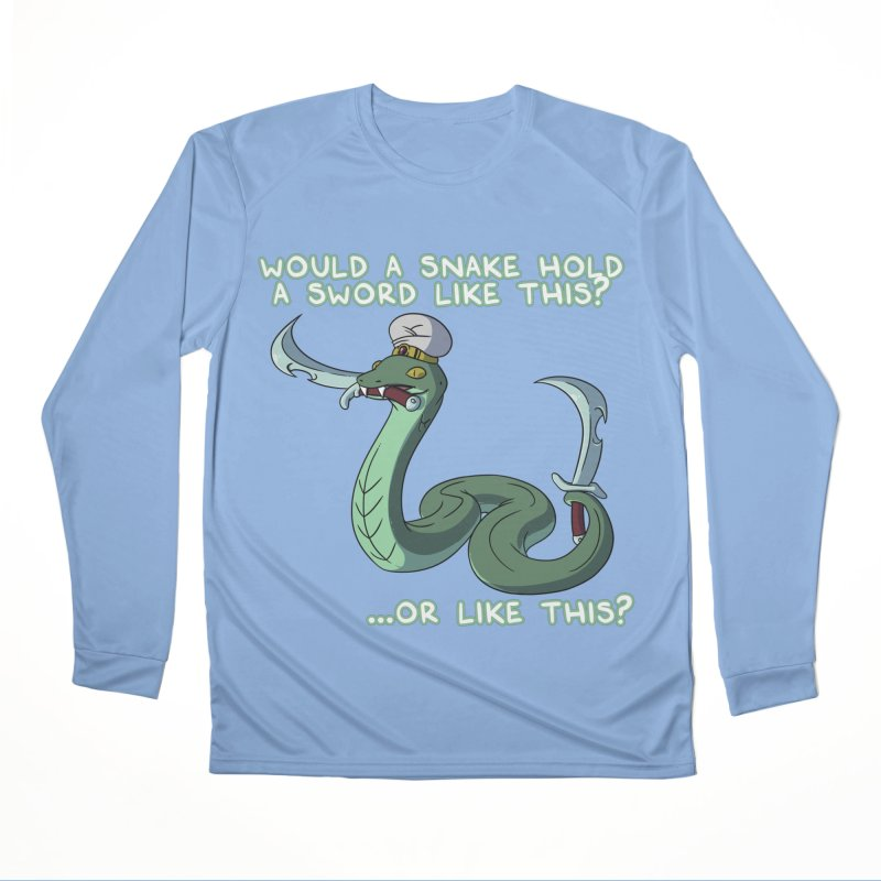 Would A Snake Hold A Sword Like This? Quote Edition Men's Longsleeve T-Shirt by Swords Comics : The Store