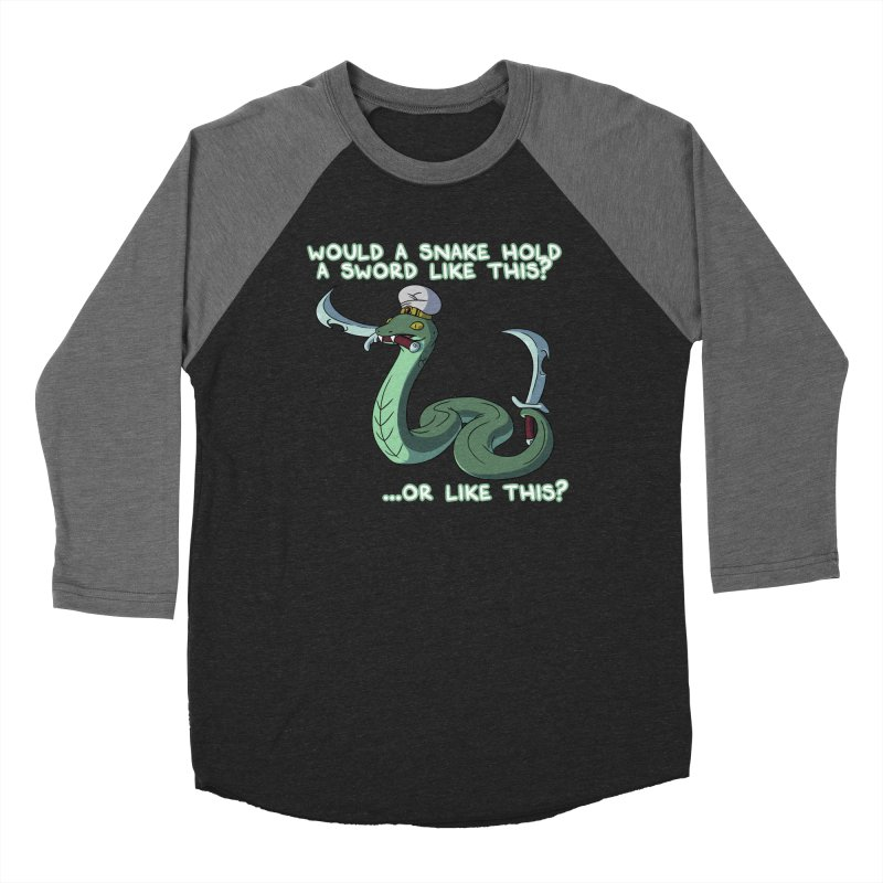Would A Snake Hold A Sword Like This? Quote Edition Women's Longsleeve T-Shirt by Swords Comics : The Store