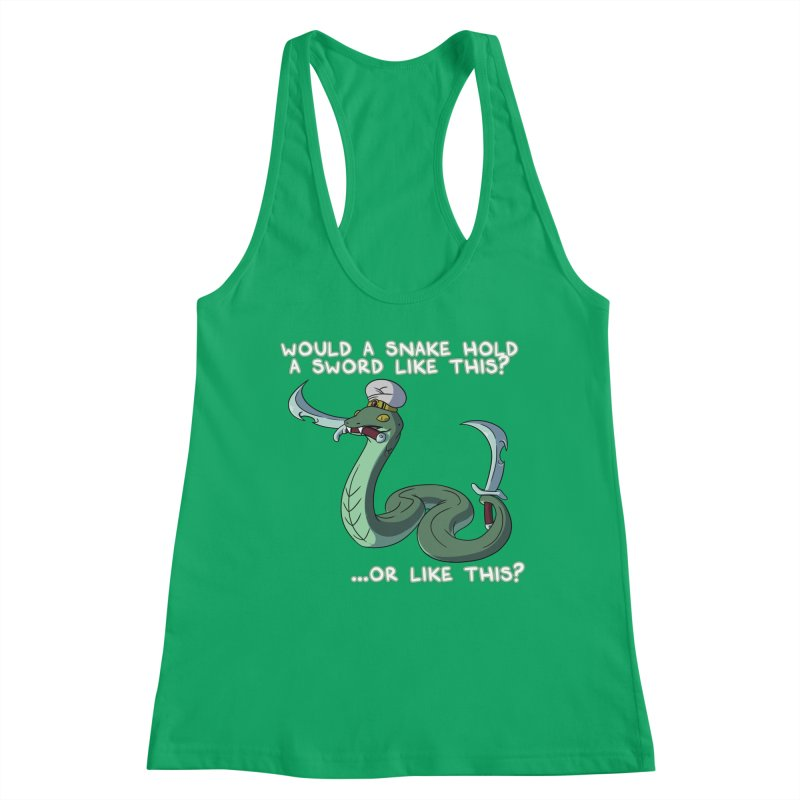 Would A Snake Hold A Sword Like This? Quote Edition Women's Tank by Swords Comics : The Store