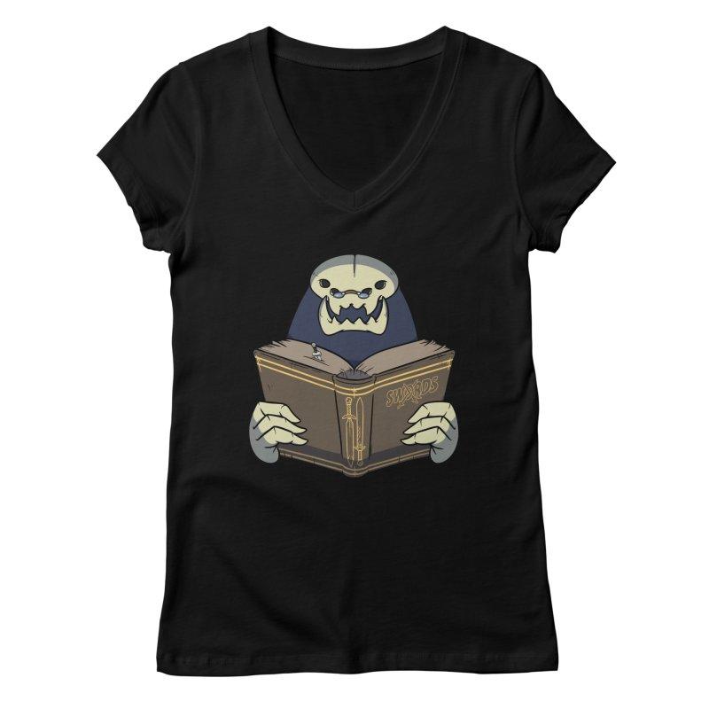 Kargob, God of Darkness Women's V-Neck by Swords Comics : The Store