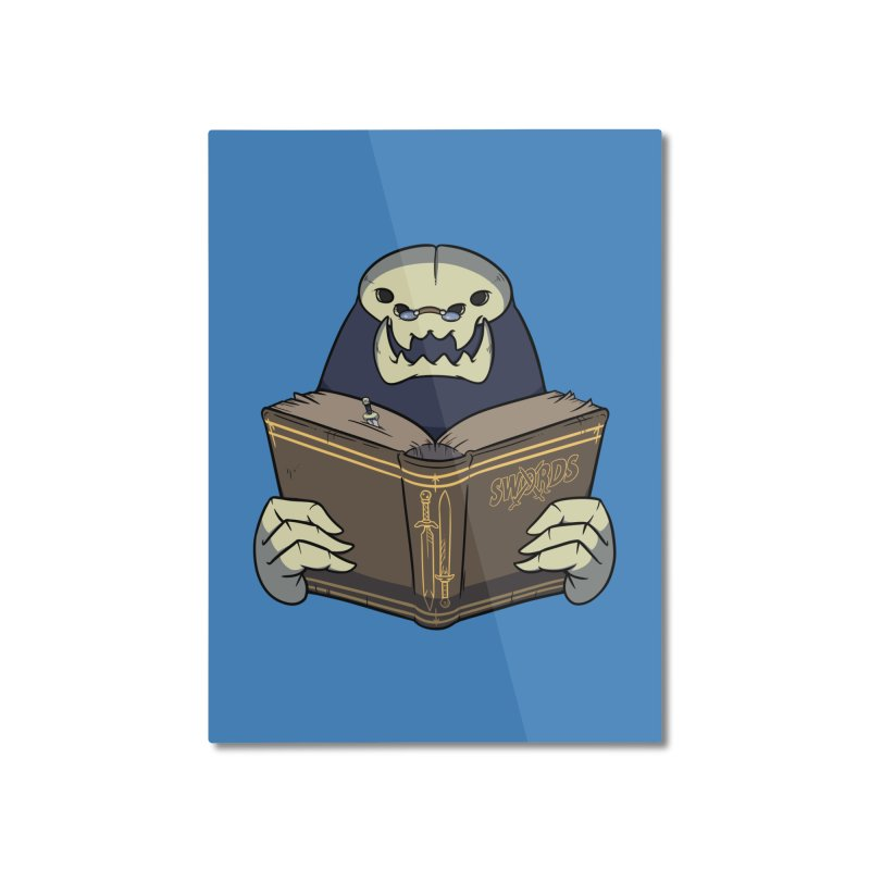 Kargob, God of Darkness Home Mounted Aluminum Print by Swords Comics : The Store