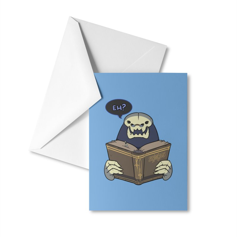 Kargob, God of Darkness Quote Edition Accessories Greeting Card by Swords Comics : The Store